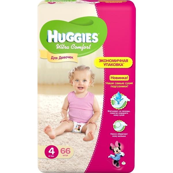 Подг.HUGGIES Ultra Comfort 4  Для девочек 8-14  66  95dd7335a6c