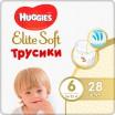 """Трусики HUGGIES Elite Soft/6/ 16-22 /28/ - купить оптом в магазине """"Мирослав"""""""