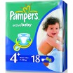 Подг.PAMPERS Active Baby/4+/ Maxi plus 10-15 кг /18/ - Бытовая химия, хозтовары оптом от компании Марислав, Екатеринбург