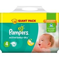 Подг.PAMPERS Active Baby/4/ Maxi 8-14 кг /90/ - Бытовая химия, хозтовары оптом от компании Марислав, Екатеринбург