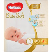 Подг.HUGGIES Elite Soft/1/ Newborn 3-5 /84/ - Бытовая химия, хозтовары оптом от компании Марислав, Екатеринбург