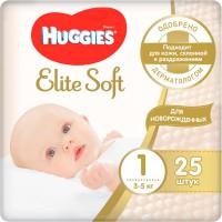 Подг.HUGGIES Elite Soft/1/ Newborn 3-5 /25/ - marislav.ru - Екатеринбург