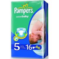 """Подг.PAMPERS Active Baby/5/ Junior 11-18 кг /16/ - купить оптом в магазине """"Мирослав"""""""