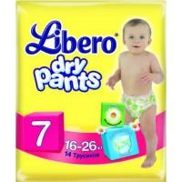 Трусики LIBERO Dry Pants/7/ 16-26кг /14/ - marislav.ru - Екатеринбург