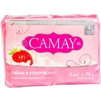 Мыло CAMAY/4*75/ Creme & Strawberry - Бытовая химия, хозтовары оптом от компании Марислав, Екатеринбург