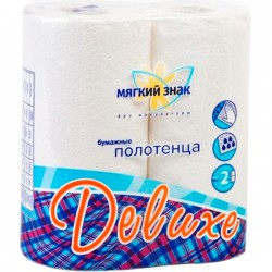 Полот.бум.МЯГКИЙ ЗНАК/2шт./2-сл./ Delux - marislav.ru - Екатеринбург