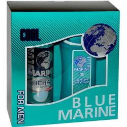 Наб.BLUE MARINE For Men Cool *Шампунь+Пена д/бритья* - Бытовая химия, хозтовары оптом от компании Марислав, Екатеринбург