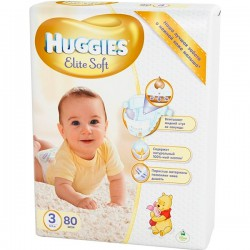 Подг.HUGGIES Elite Soft/3/ Midi 5-9 /80/ - Бытовая химия, хозтовары оптом от компании Марислав, Екатеринбург