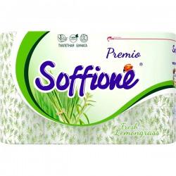 "Т/бум.SOFFIONE Premio/12шт./3-х сл./ Fresh Lemongrass - купить оптом в магазине ""Мирослав"""