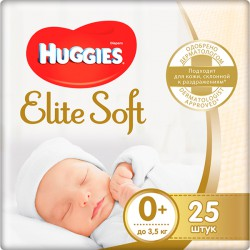 Подг.HUGGIES Elite Soft/0+/ Newborn до 3,5 кг /25/ - marislav.ru - Екатеринбург