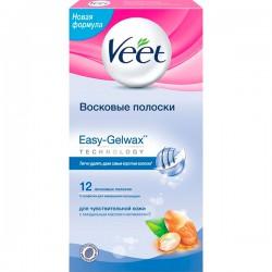 Восковые полоски VEET/12шт/ Для чувствительной кожи - marislav.ru - Екатеринбург