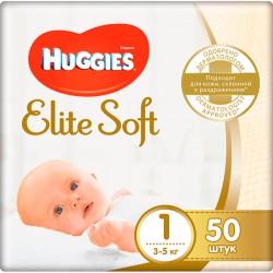 Подг.HUGGIES Elite Soft/1/ Newborn 3-5 /50/ - marislav.ru - Екатеринбург