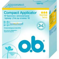 Тампоны OB Compact Applicator/16/ Нормал - marislav.ru - Екатеринбург