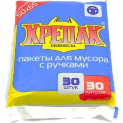 Мешки д/мусора КРЕПАК/30л/30шт/ с ручками - marislav.ru - Екатеринбург