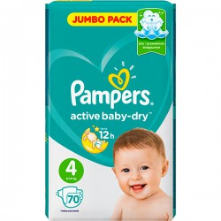 """Подг.PAMPERS Active Baby/4/ Maxi 9-14 кг /70/ - купить оптом в магазине """"Мирослав"""""""