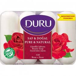 """Мыло DURU/4*85/ Pure and Natural Роза - купить оптом в ТК """"Марислав"""""""
