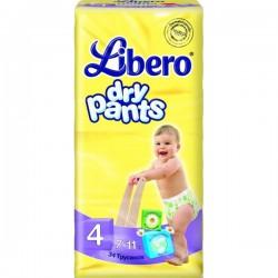 Трусики LIBERO Dry Pants/4/ 7-11кг /34/ - Бытовая химия, хозтовары оптом от компании Марислав, Екатеринбург