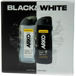 "Наб.ARKO Men Black & White *Гель д/душа + Гель д/душа* - купить оптом в магазине ""Мирослав"""