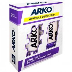 """Наб.ARKO Men Sensitive *Пена д/бр. + Гель д/душа* - купить оптом в магазине """"Мирослав"""""""