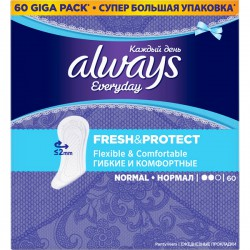 ALWAYS ЕЖЕДНЕВНЫЕ Normal/60/ Fresh & Protect - Бытовая химия, хозтовары оптом от компании Марислав, Екатеринбург
