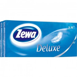 """Нос.плат.бум.ZEWA Deluxe/10*10шт./3-х сл./ - купить оптом в ТК """"Марислав"""""""