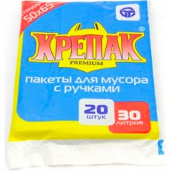 Мешки д/мусора КРЕПАК/30л/20шт/ с ручками - marislav.ru - Екатеринбург