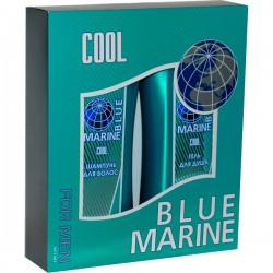 Наб.BLUE MARINE For Men Cool *Шампунь+Гель д/бритья* - Бытовая химия, хозтовары оптом от компании Марислав, Екатеринбург