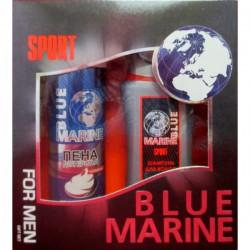 Наб.BLUE MARINE For Men Sport *Шампунь+Пена д/бритья* - Бытовая химия, хозтовары оптом от компании Марислав, Екатеринбург